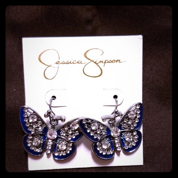 Jessica Simpson Jewelry - Jessica Simpson butterfly earrings